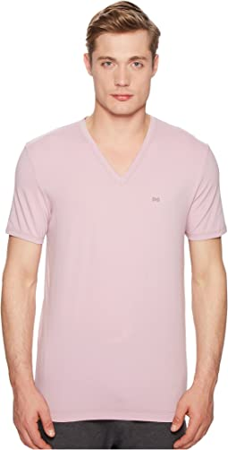 Dolce & Gabbana - Stretch Cotton V-Neck T-Shirt