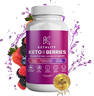 Ketality Keto Pills - 5X Dose (1200mg | 60 Capsules) Advanced Keto Burn Diet Pills - Best Exogenous Ketones BHB Supplement - Max Strength Formula