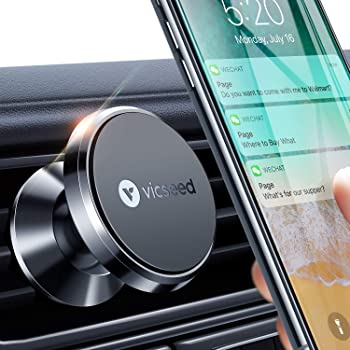 Black Baseus Magnetic Phone Holder Car Air Vent Bracket Mount 360 Degrees Rotation for iPhone Samsung Galaxy Note Lenovo HTC Sony Nokia Smartphones GPS and More