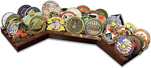 4 Row Challenge Coin Holder Stadium - Military Coin Display Stand - Amazing Military Challenge Coin Holder - Holds 30-36 Coins 4 Rows Made in The USA!