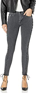 Hudson womens The Stevie Midrise Cont Lace Up Skinny 5 Pocket Jean Jeans