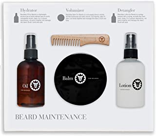Beard Care Shampoos, Conditioner, Grooming, Maintenance, and Beard Styling Sets by Beardsley & Company (Beard Maintenance and Styling Kit)