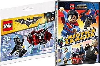 Lego Justice League Attack of the Legion of Doom! Movie & Toy Builder Bundle - Batman in the Phantom Zone mini figure Animated DVD DC Super Heroes Fun Set