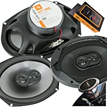 JBL GT7-96E 6x9 inches 300 Watts (75W RMS) Club Series 3-Way Coaxial Car Speakers with Gravity Magnet Phone Holder Bundle photo