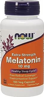 NOW Supplements, Melatonin, Extra Strength 10 mg, 100 Veg Capsules