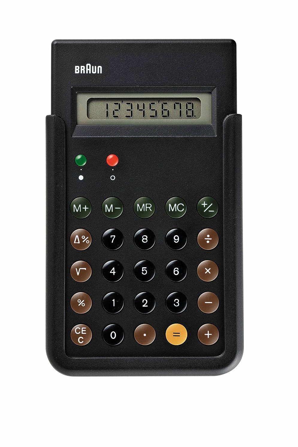 言い聞かせる法的盆地[ブラウン]BRAUN 電卓 復刻モデル BNE001BK 【正規輸入品】