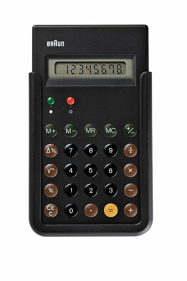 戦略普遍的な後者[ブラウン]BRAUN 電卓 復刻モデル BNE001BK 【正規輸入品】