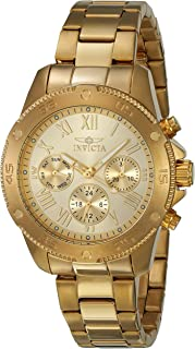 Invicta Women's 'Wildflower' Quartz Stainless Steel Casual Watch, Color:Gold-Toned (Model: 21731)