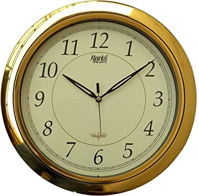 Ajanta Plastic Glass Wall Clock (31 x 31 cm, Ivory)