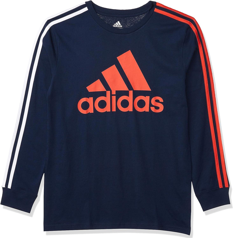 adidas Boys' Long Sleeve Cotton Jersey T-Shirt Tee