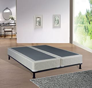 Greaton 8-inch Assembled Split Wood Box Spring/Foundation For Mattress ,King Size