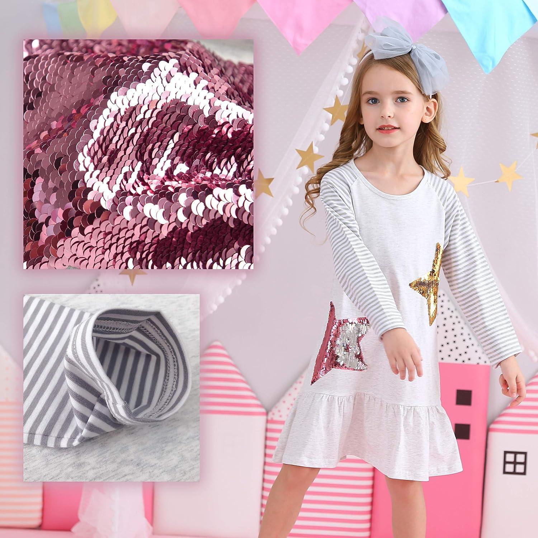 VIKITA Casual Girls Dresses 2pcs LH0777+LH0820 7T
