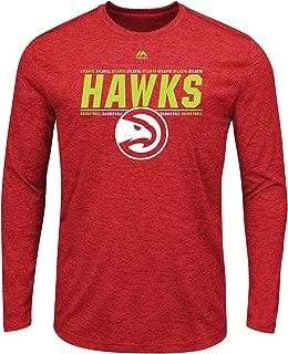 Majestic Atlanta Hawks NBA Men's Thrill A Minute Long Sleeve Performance T-Shirt