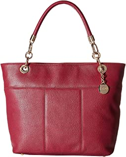 TH Signature -Top Zip Tote - Pebble