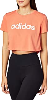 adidas Womens W D2M CROPPED BOXY LOGO TEE T-SHIRTS