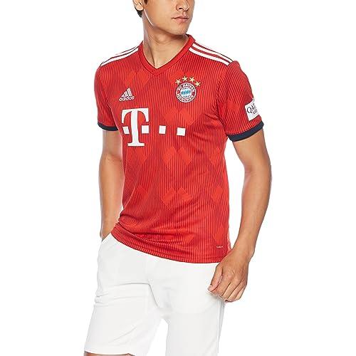 5054a00e31d adidas 2018-2019 Bayern Munich Home Football Soccer T-Shirt Jersey