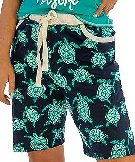 Mesdames Lounge Shorts Navy Floral Dentelle PJ sommeil Court Ex UK boutique 8-16 Neuf
