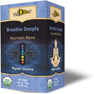 Sponsored Ad - Valdena Bio Ayurvedic Blend Thyme Licorice 'Breathe Deeply' Caffeine Free Anti-inflammatory and Antioxidant...