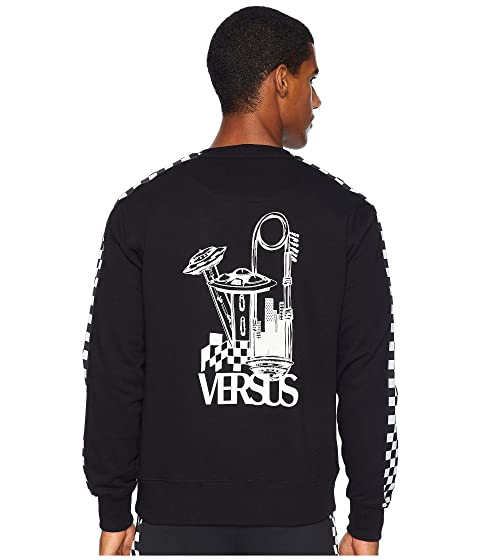 Versus Versace UFO Check Long Sleeve T-Shirt