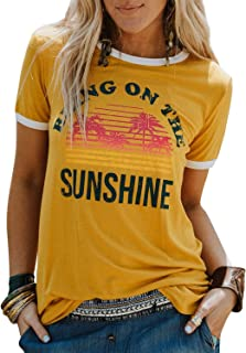 Bring On The Sunshine Graphic Long Sleeves Tees Blouses for Women Tops Sweaters for Women