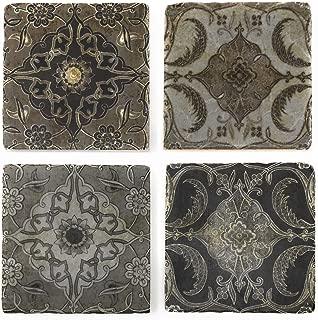Studio Vertu Vintage Tiles Marble Coasters, Set of 4