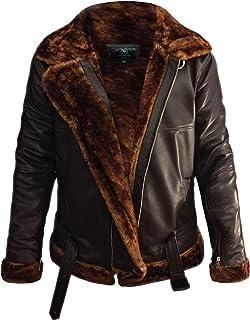 B3 Bomber Jacket Men Shearling Bomber Jacket - Leather Bomber Jackets For Men Sheepskin Aviator Raf Bomber Jacket