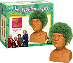 Chia Pet Golden Girls Sophia with Seed Pack, Decorative Pottery Planter, Easy to Do and Fun to Grow, Novelty Gift, Perfect for Any Occasion