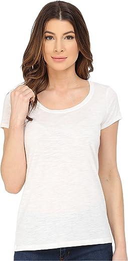 Scoop Neck Solid T-Shirt
