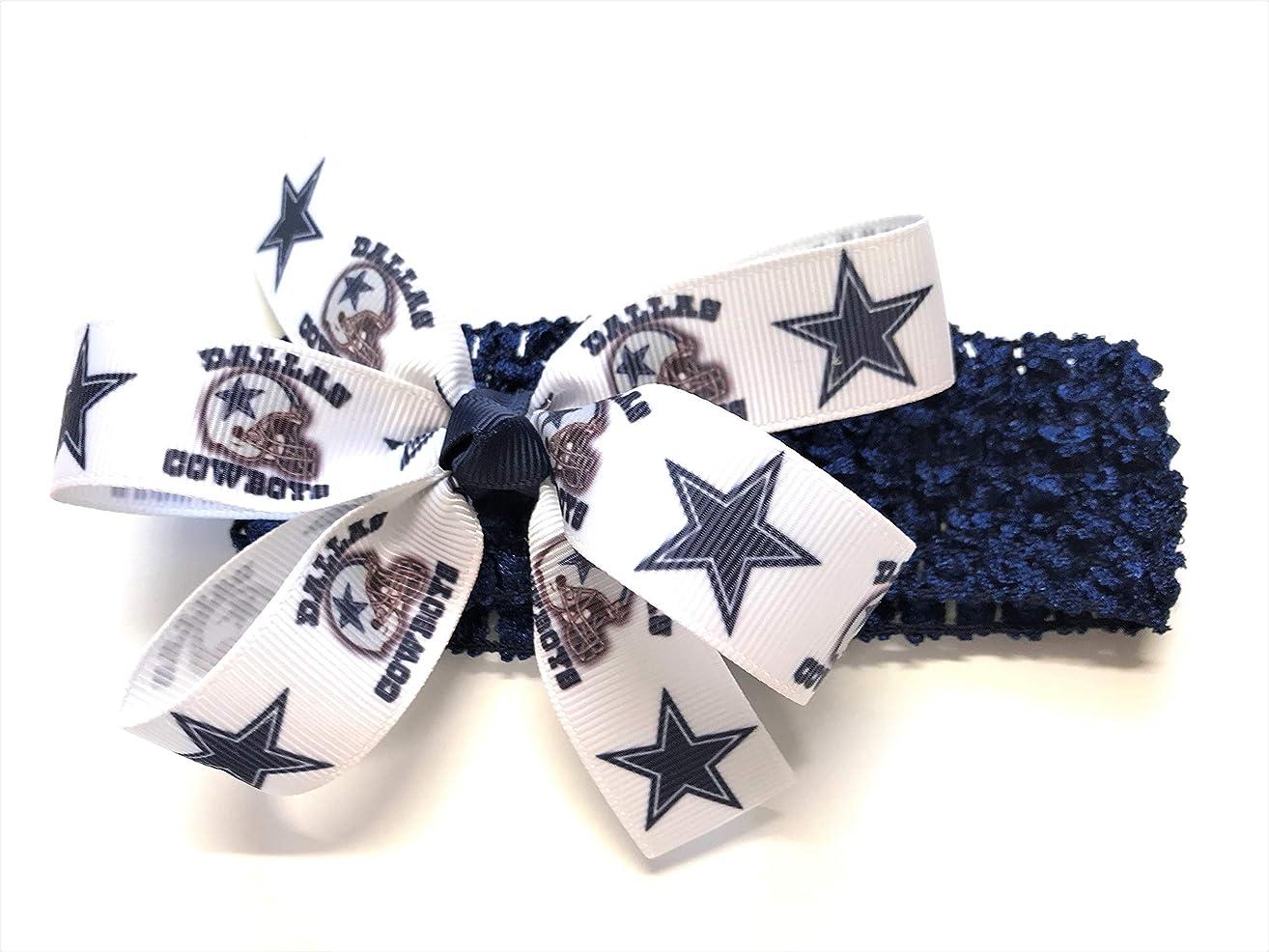 Girls Dallas Cowboy Headband Cowboys Football NFL Hair Bow For Newborn Baby Girl Hair Accessories