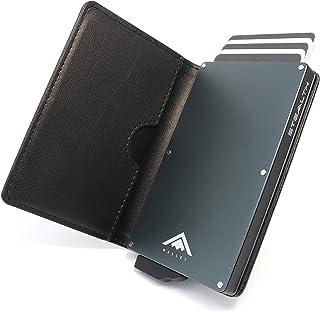 STEALTH WALLET Minimalista Portatarjetas RFID - Carteras de Tarjetas de Crédito Metálicas Delgadas y Livianas con Protecci...