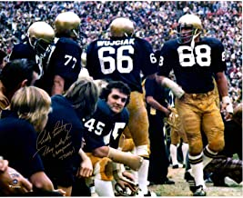 """Rudy Ruettiger Notre Dame Fighting Irish Autographed 16"""" x 20"""" Sideline Photograph with""""Play Like A Champ Today"""" Inscripti..."""