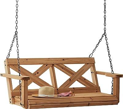Fabulous Amazon Com Outsunny 3 Person Canopy Porch Swing Black Inzonedesignstudio Interior Chair Design Inzonedesignstudiocom