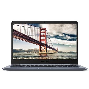 "ASUS Laptop L406 Thin and Light Laptop, 14"" HD Display, Intel Celeron N4000 Processor, 4GB RAM, 64GB eMMC Storage, Wi-Fi 5, Windows 10 S, Slate Gray, L406MA-WH02 (Renewed)"