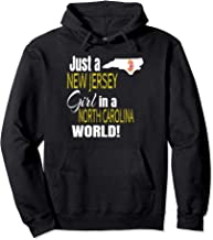 Just A New Jersey Girl In A North Carolina World Cute Gift Pullover Hoodie