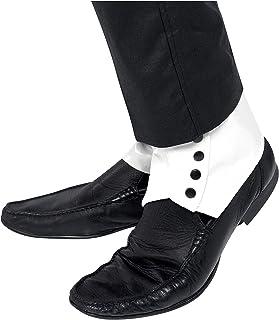 Smiffy's Men's Spats, 1 Pair, White, One Size, 33459