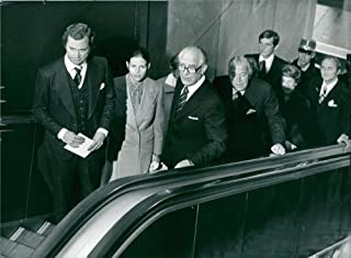 Vintage photo of King Carl XVI Gustaf, Queen Silvia, President Henry Allard and Prince Bertil at the opening of the Riksdag
