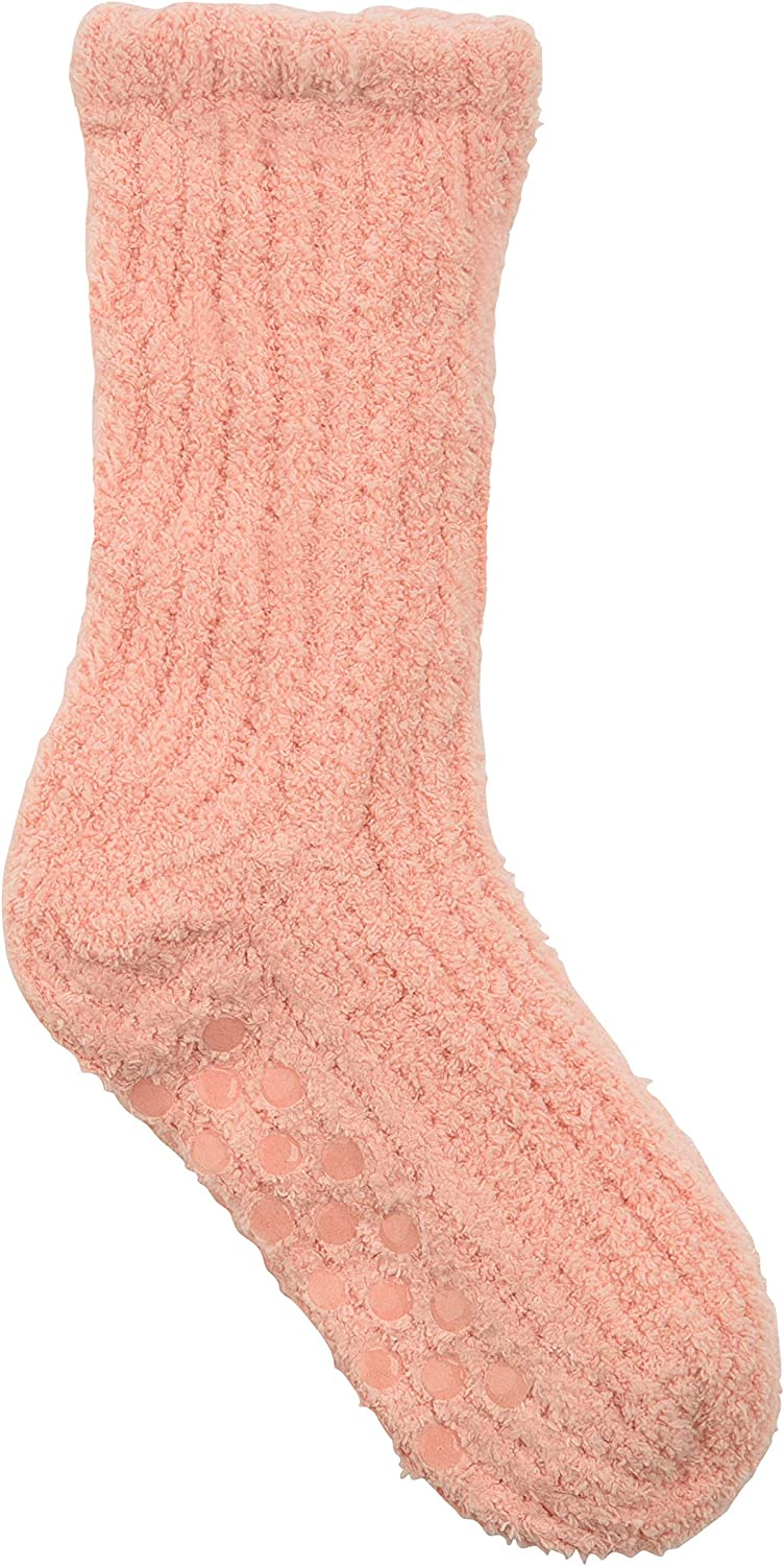 Snoozies Womens Socks - Shea Butter Infused Socks w/Non Skid Soles