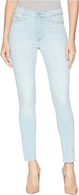 Barbara High-Waist Ankle Raw Hem Super Skinny in In Love