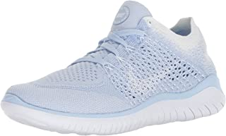 Nike Women's Free RN Flyknit 2018 Hydrogen Blue/White-White 6.0