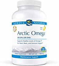 Nordic Naturals Pro Arctic Omega- Fish Oil, 330 mg EPA, 220 mg DHA, Helps Maintain Healthy Omega-3 Levels for Heart, Brain, and Immune Support*, 180 Soft Gels