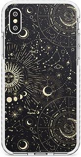 Case Warehouse Soles y Zodiac Cartas astrales Impact Funda para iPhone XS TPU Protector Ligero Phone Protectora con Zodíac...