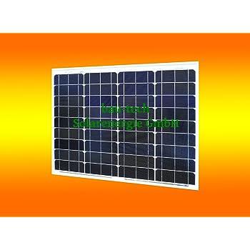 50Watt 12 Volt Solar Panel Monokristallines Faltbar ideal f/ür Boot Wohnmobil 4 x 3 Gartenh/äuse