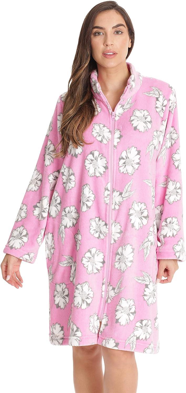 Just Baltimore Mall Love Genuine Free Shipping Plush Zipper Lounger Short Printed Robe