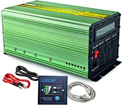 EDECOA 1000W Pure Sine Wave Power Inverter DC 12V to 120V AC with LCD Display and Remote Controller for Car