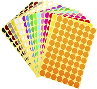 5040 Pieces 3/4 Inch Round Color Coding Labels Circle Dot Stickers for Office School Supplies, 16 Colors