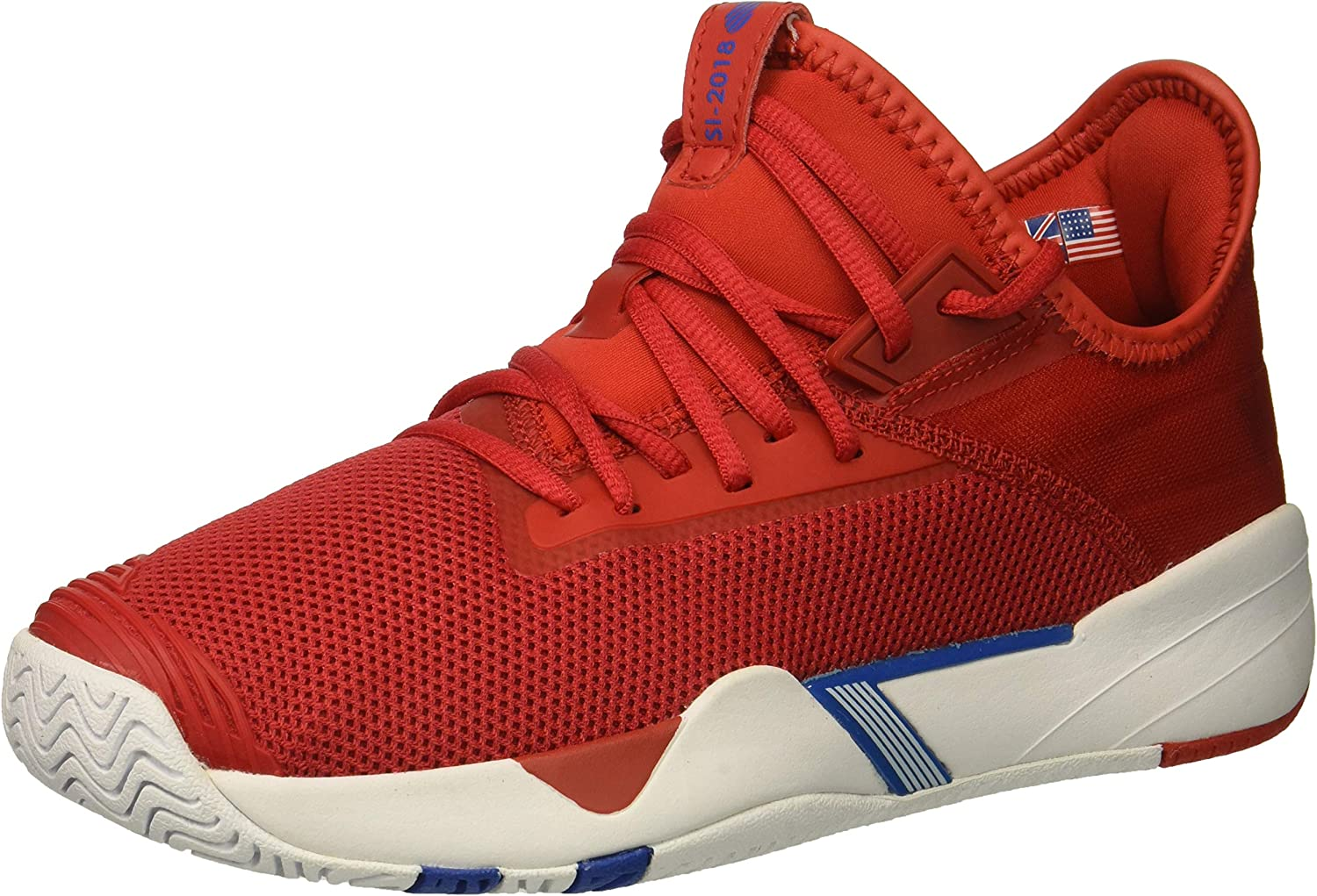 K-Swiss Men's SI-2018 Sneaker, high Risk red White Strong bluee, 8 M US