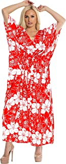 Women's One Size Kaftan Kimono Dresses Loungewear Cover Ups Drawstring
