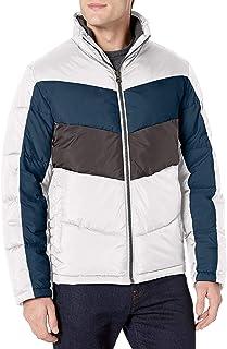 معطف رجالي من Lucky Brand مطبوع عليه Southold بسحاب أمامي مبطن للتزلج