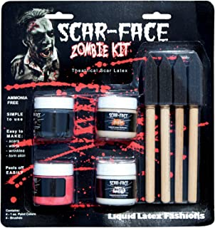Scar Face Liquid Latex Zombie Kit - Includes 4