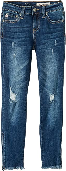 "23"" Ankle Zip Skinny Jeans with Embroidery in Morning Glory (Big Kids)"